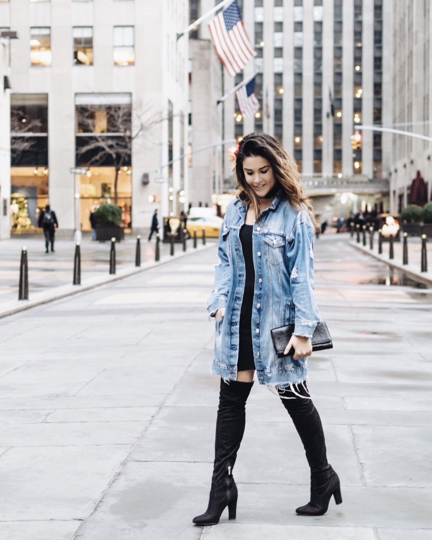 Get My Look: Long Denim Coat & OTK Boots
